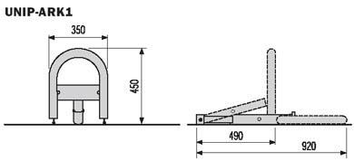 автоматический барьер CAME UNIPARK ARK1 габаритные размеры
