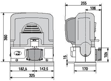 Автоматика ворот СAME BK габаритные размеры
