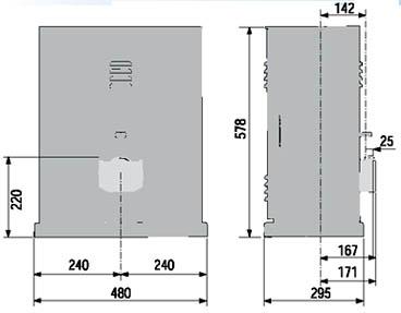 Автоматика ворот СAME BY 3500T габаритные размеры