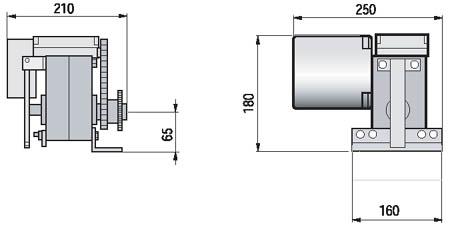 Автоматика ворот СAME серия C100 габаритные размеры