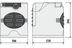 Электро приводы ворот CAME серии FAST габаритные размеры