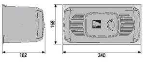 Автоматика для ворот CAME FERNI F1000 габаритные размеры