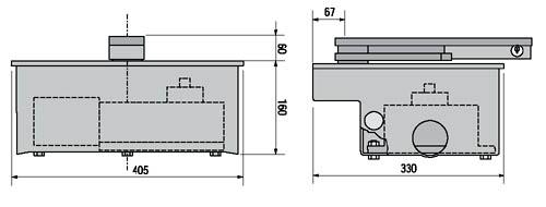 Автоматика для ворот CAME серии FROG габаритные размеры