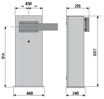 Автоматические шлагбаумы CAME серии GARD 6000 габаритные размеры