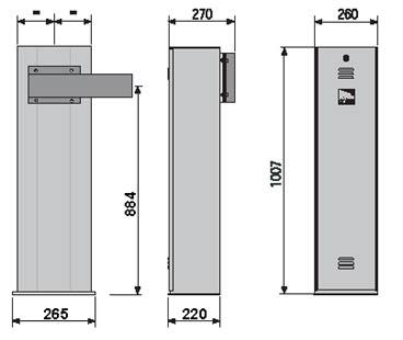 Автоматические шлагбаумы CAME GARD 2500 габаритные размеры