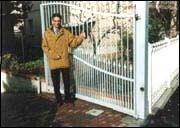 Автоматические распашные ворота заполнение решетки.
